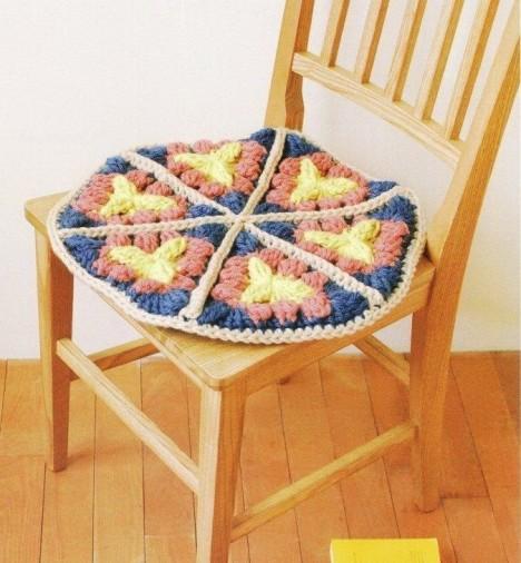 手工毛线编织地毯搭配图片