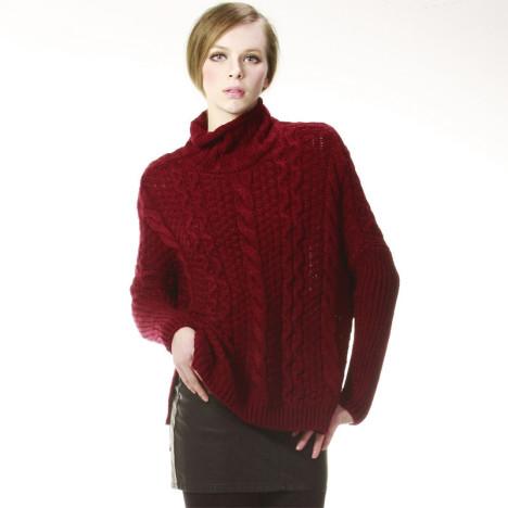 红色修身皮裙搭配