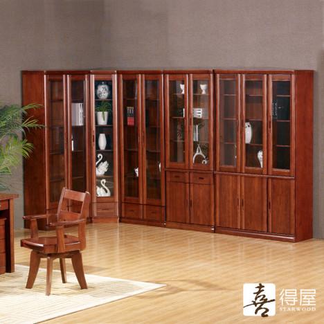 新中式书房家具 实木书柜