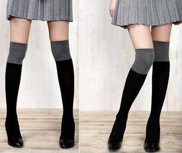 秋冬打底袜女韩国可爱袜子纯棉袜套高筒长筒袜过膝袜