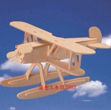 手工木制飞机模型搭配图片