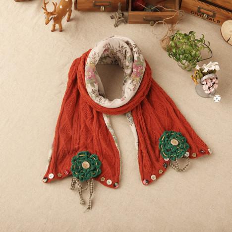 围巾菱形花纹搭配图片