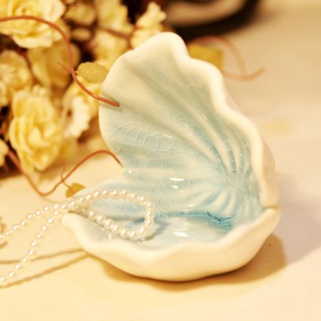 贝壳陶瓷摆件欧式现代时尚家居卧室装饰品创意工艺品