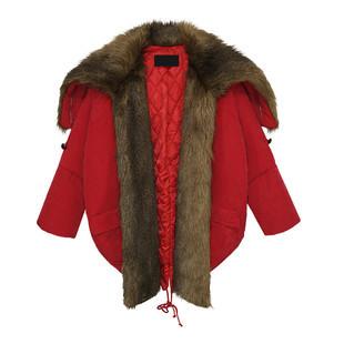 皮草斗篷披肩大衣外套搭配