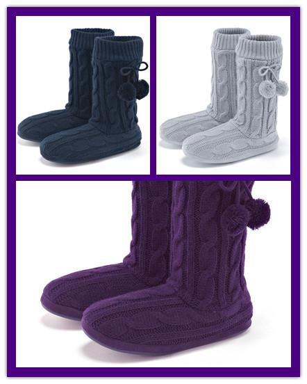 毛线编织靴筒搭配图片