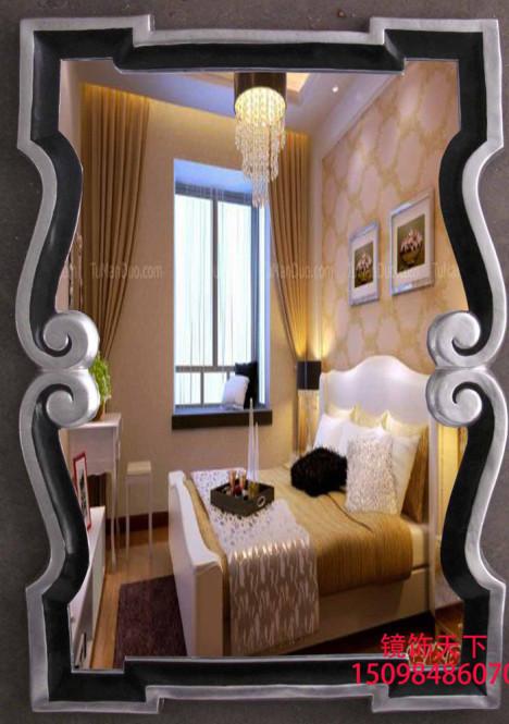 欧式梳妆镜美式美容镜子地中海浴室镜时尚造型复古