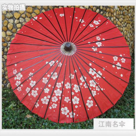 日式和风伞搭配图片