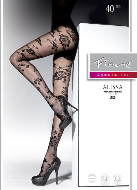 【胭脂内衣】波兰fiore丝袜 40d 性感蕾丝花纹