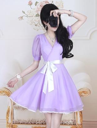 紫色搭配玫红色女装