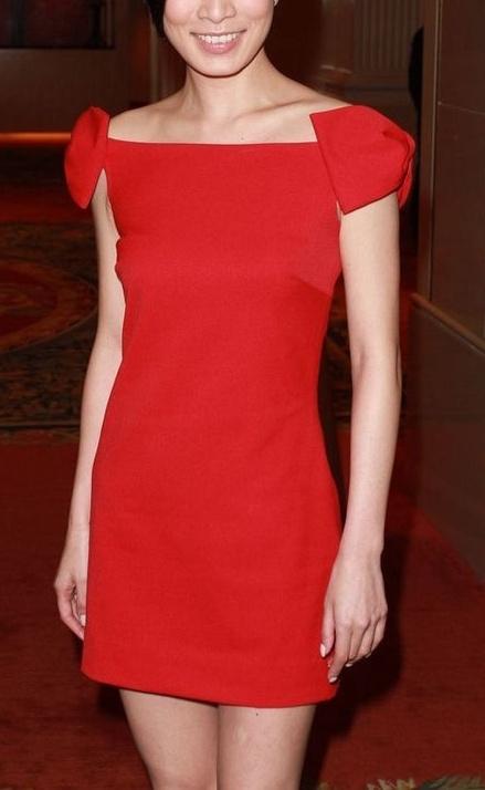 蝴蝶结红色 夏季大红修身礼服连衣裙