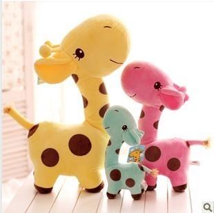毛绒玩具长颈鹿小胖鹿玩偶梅花鹿布娃娃可爱玩偶儿童玩具批发