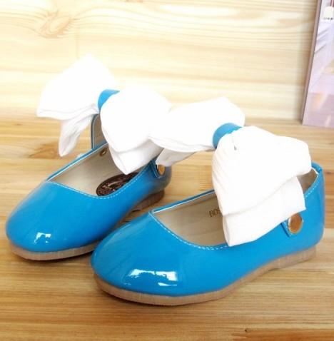 可爱小公主鞋女童皮鞋儿童皮鞋淑女鞋蝴蝶
