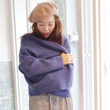 香芋紫毛衣外套搭配图片