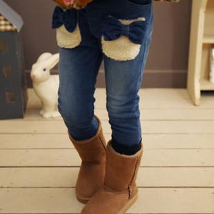 女童冬装牛仔裤搭配