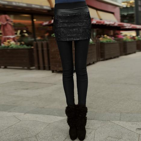 pu皮裤裙搭配图片_pu皮裤裙如何搭配