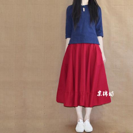红色大裙子搭配图片
