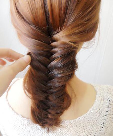 学生中长扎头发发型步骤