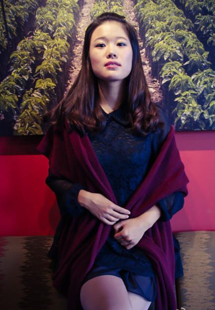 围巾做裙子搭配图片_围巾做裙子如何搭配