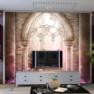 客厅电视墙玄关沙发背景墙壁纸墙纸【http
