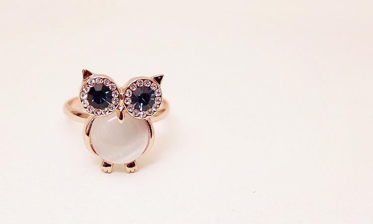 可爱猫头鹰戒指
