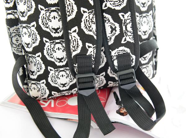 【韩版新款黑白经典老虎头双肩包】-包包-双肩包