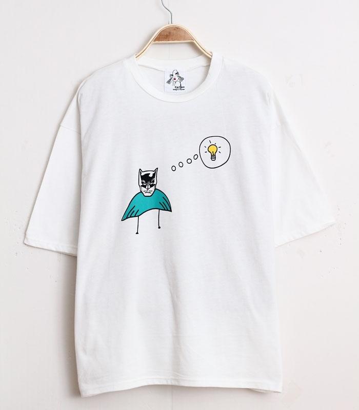 【蝙蝠侠电灯泡t恤】-衣服-尚风时尚-蘑菇街优店