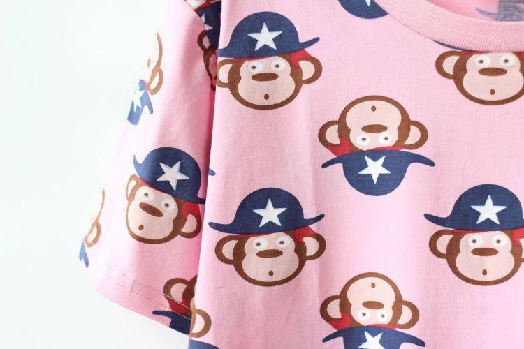 【韩版可爱小猴子头像t恤】-衣服-服饰鞋包
