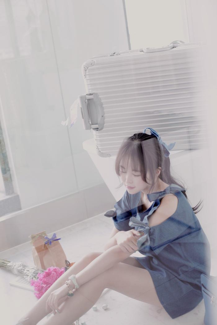 【蝴蝶结牛仔连衣裙】-衣服-裙子