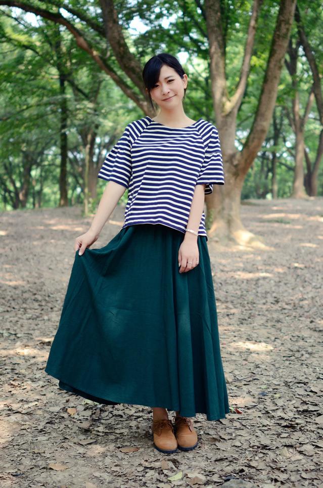 【舒适纯棉麻复古森系半身长裙】-衣服-半身裙_裙子