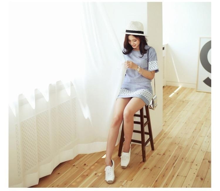 【西瓜家花边休闲职业套装】-衣服-服饰鞋包