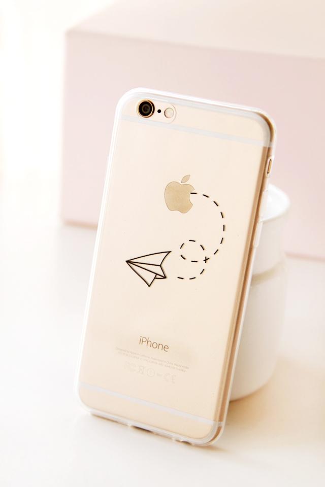 【她的熊纸飞机iphone6手机壳】-配饰-手机配件
