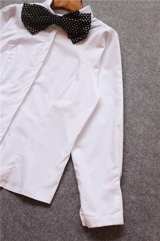 【领口蝴蝶结打底衬衫】-无类目-服饰鞋包