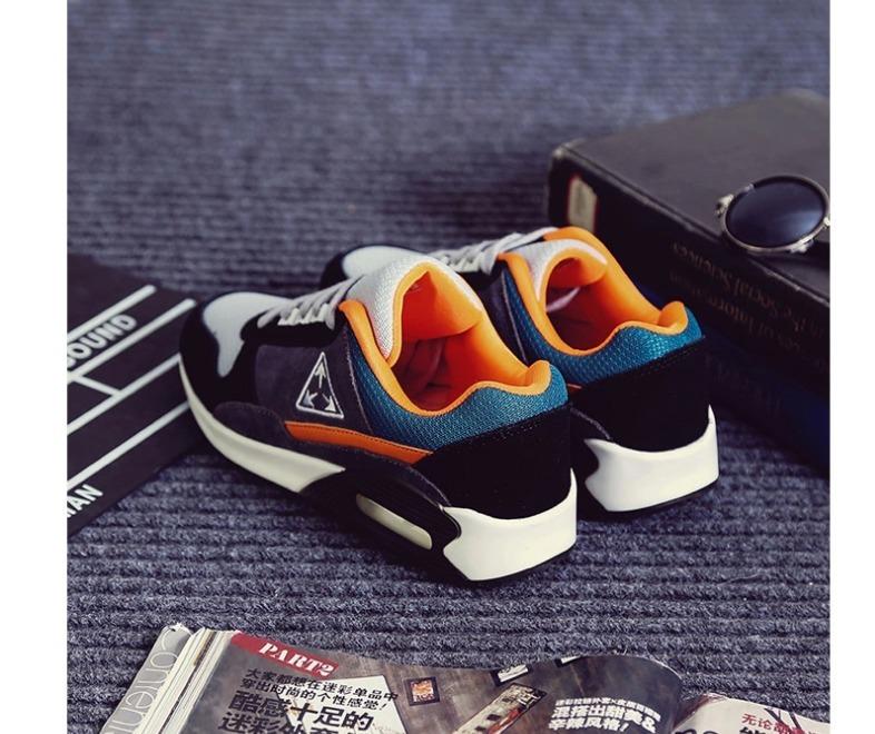 韩国三角形拼色运动鞋