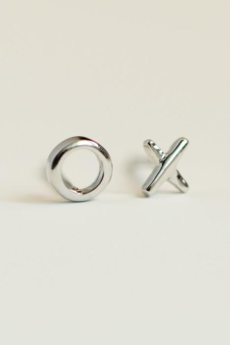925纯银趣味个性ox耳钉