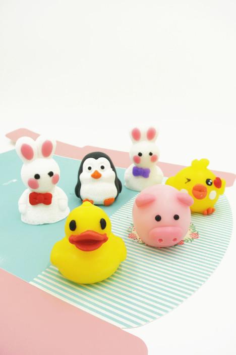 【萌萌哒卡通造型可爱动物手工皂】-配饰-手工diy