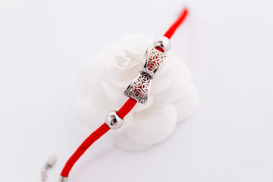 本命年红绳蝴蝶结手链