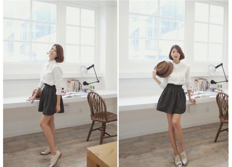 【2015春季蕾丝花边韩版棉衬衫】-男装-衬衫