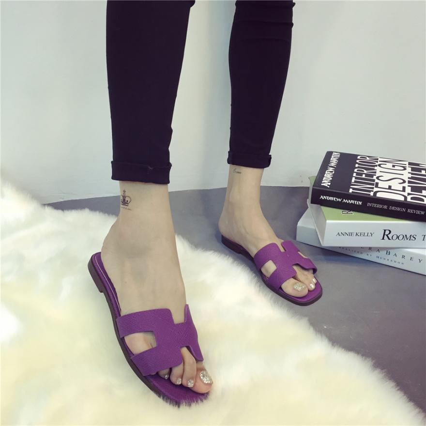 多��h�ᢹ�)�.�_【gogo】欧洲站多色h型平底拖鞋