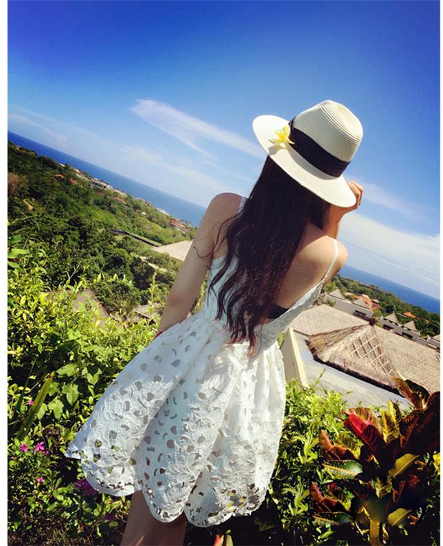 【韩版v领镂空吊带连衣裙】-衣服-连衣裙_裙子_女装