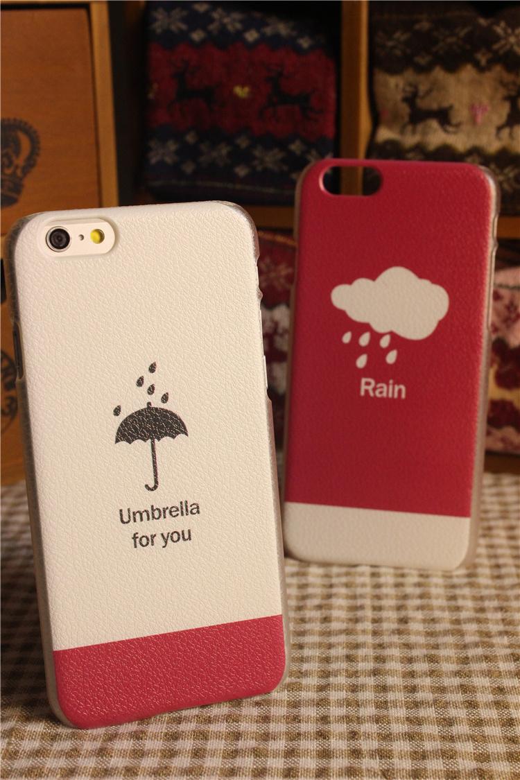 雨伞云朵情侣iphone手机壳