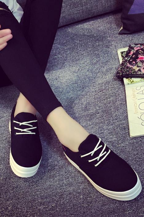 香菇妹子 新款情侣帆布鞋 -衣服 女鞋 帆布鞋 服饰鞋包 AMAN酱 蘑菇街