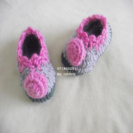 婴儿鞋子,宝宝地板学步鞋,步前鞋,钩织婴儿鞋,毛线鞋