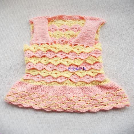 简单宝宝裙子编织图片 图解