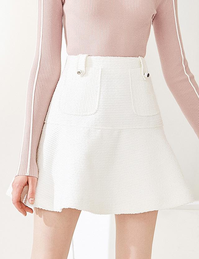 糖力2018秋裝新款白色歐美荷葉邊下擺半身裙女高腰顯瘦a字裙短裙圖片