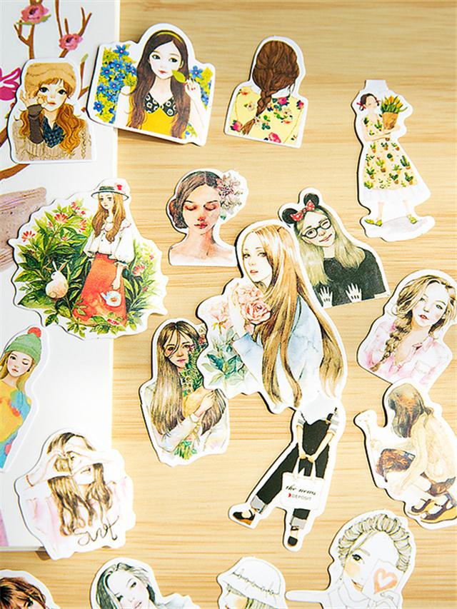 手账贴纸表情创意贴纸diy日记装饰周边贴纸卡通动物美食枚手账本美