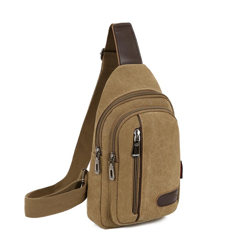 包包2019新款男士胸包帆布包斜挎包单肩包韩版小背包休闲腰包图片