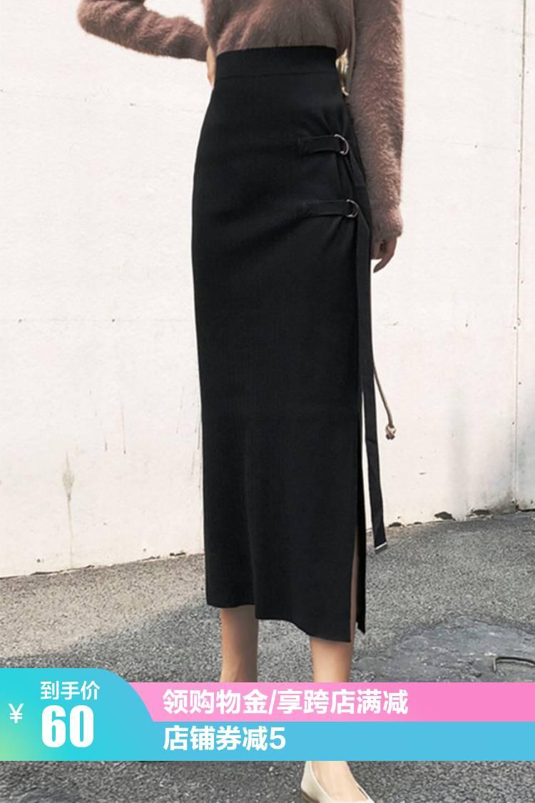 系带的半身长裙