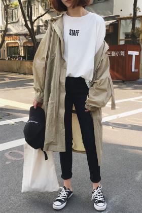 韩版长款风衣外套女搭配图片 韩版长款风衣外套女怎么搭配 韩版长款