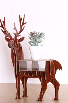 质麋鹿玄关动物装饰品摆件客厅摆件创意家居橱窗摆设置物架$24.5-图片