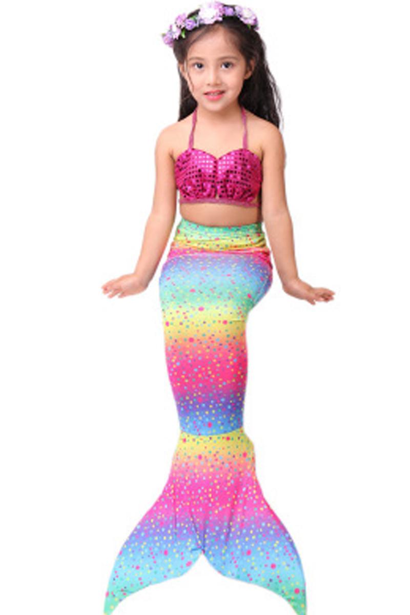 美人鱼服装鱼尾巴公主裙衣服女童儿童美人鱼泳衣